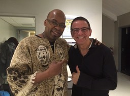 Vince & Lionel Loueke backstage at Symphony Space